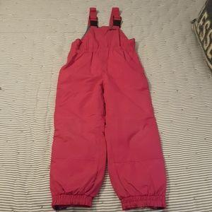 Girl's L.L. Bean snow bib pants